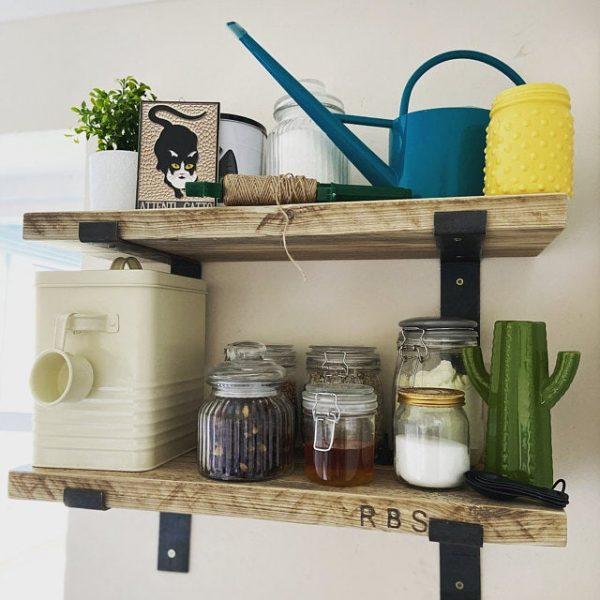 Rustic Wooden Shelf in Raw | Southampton Wood Recycling