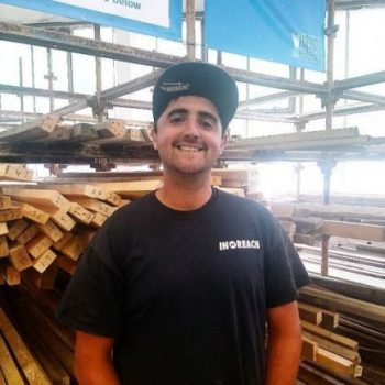 Alex Baker volunteer at Southampton Wood Recycling Project