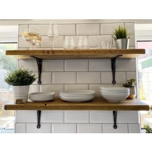 Deep Shelf Scaffold Board Shelf in Honey Osmo Oil | Southampton Wood Recycling Project