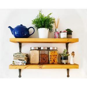Narrow Rustic Wooden Shelf