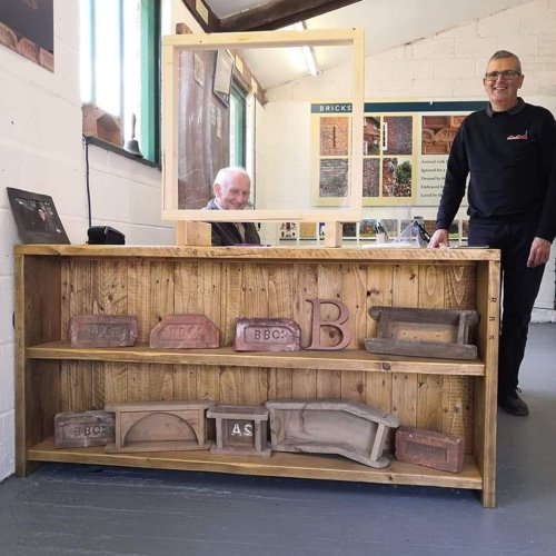 Burseldon Brickworks counters made from reclaimed wood