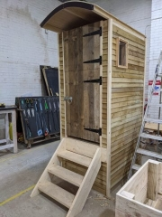 Compost toilet made from reclaimed wood
