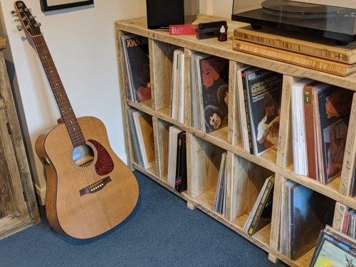 Music LP storage unit