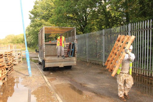 Collections vans at Southampton Wood Recycling Project