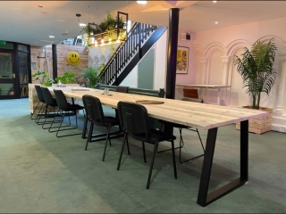 Co-Working space tables & planters