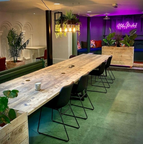 Tables & Planters for co-working space (Design Chapel)