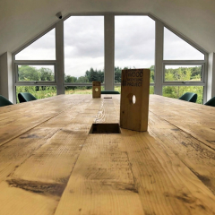 Boardroom Table for Forth Engineering with custom plug holes