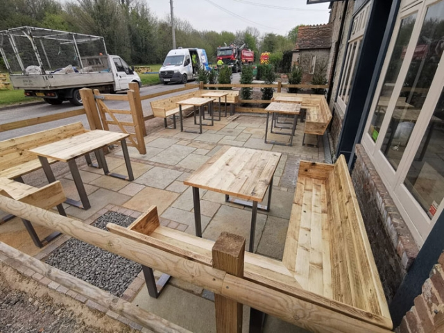 Tables and benches for Northbrook Arms pub