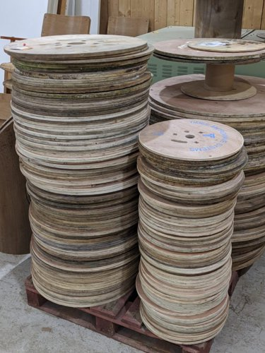 Plywood cable drums