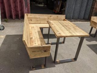 Corner Bench & Table