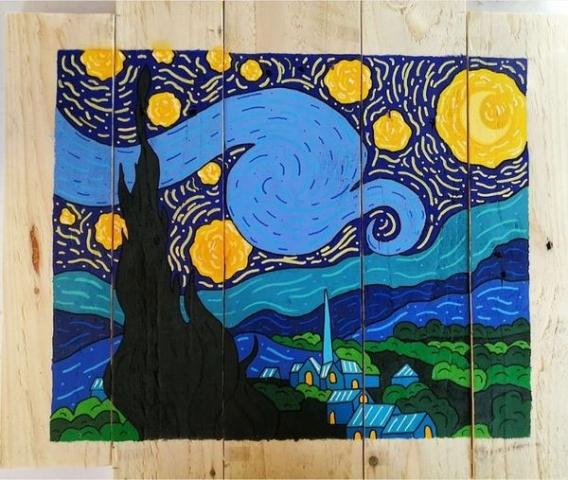 Pallet wood art by Ashli Burt
